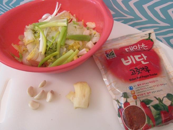vegan kimchi step 2